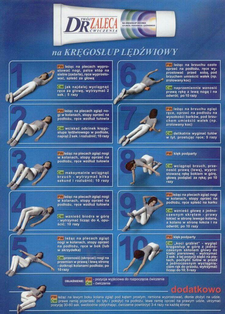 Ćwiczenia na kręgosłup lędźwiowy