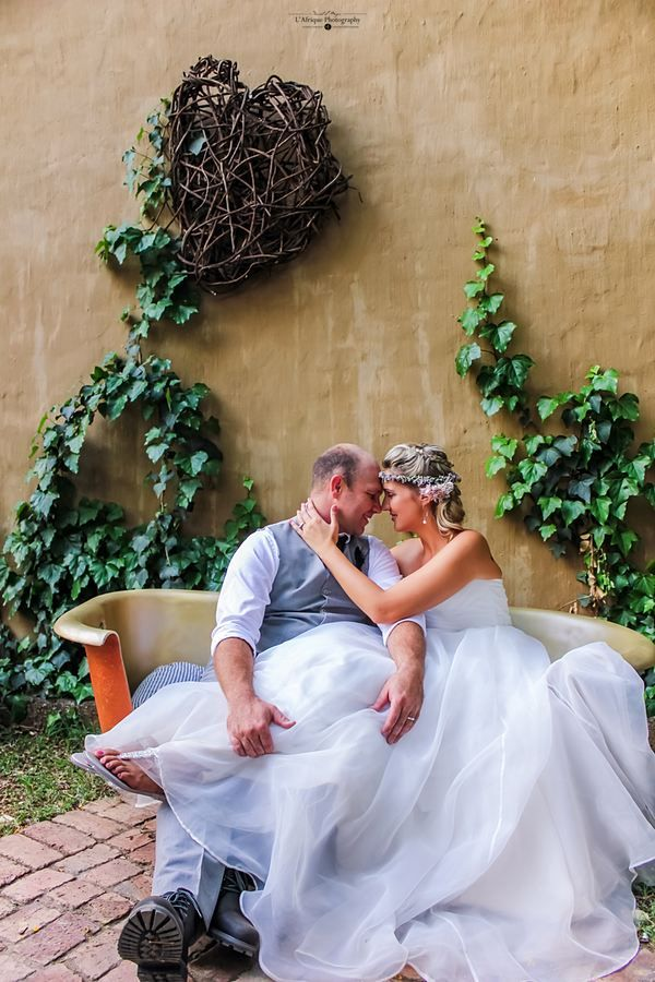 Riaan & Carien on there Wedding day Venue Die Akker Photographer Danie L Meyer by L'Afrique Photography