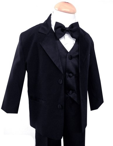$29.99-$129.99 Baby Gino Usher Baby Boy Black Tuxedo Size Small 3-6 Month - This listing is for baby boy size Small 3-6 Month This suit is perfect for Weddings, and any special occasions. Brand new designer 5 piece tuxedo set, in dark black, and white shirt with high quality adjustable satin bow tie. Included in this listing: * Single Breasted Jacket w/Notch Lapel * White shirt with pintuck fron ...