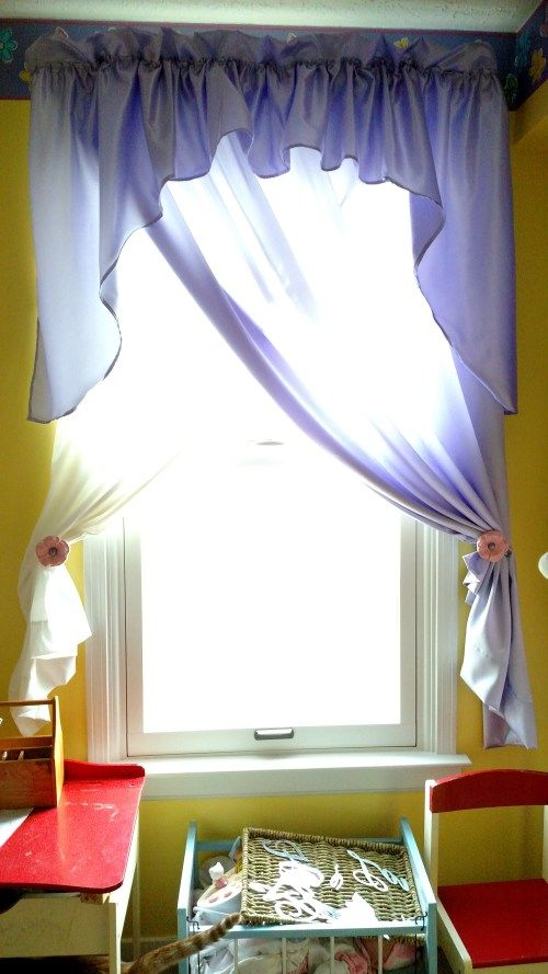 Sewn Purple Curtains http://www.b4andafters.com