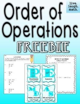 Enjoy this Order of Operations Freebie! It includes a reference sheet, a fix my mistakes activity, and challenge problems.It is part of my Order of Operations Bundle. BEST DEAL!You might also like the Numerical Expressions Bundle.MORE ORDER OF OPERATIONS: Order of Operations Bulletin Board PostersOrder of Operations Foldable, Pre-assessments, & Guided NotesOrder of Operations Leveled Printables & Quick ChecksOrder of Operations Centers & ActivitiesOrder of Operations Challenge &am...