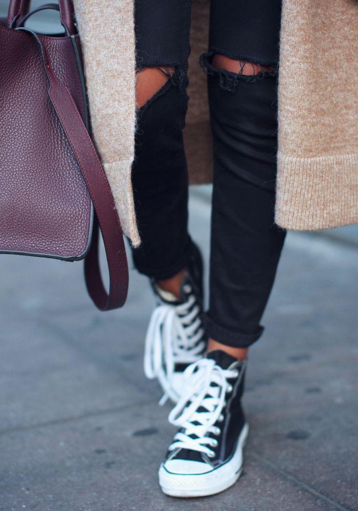 converse haute jean