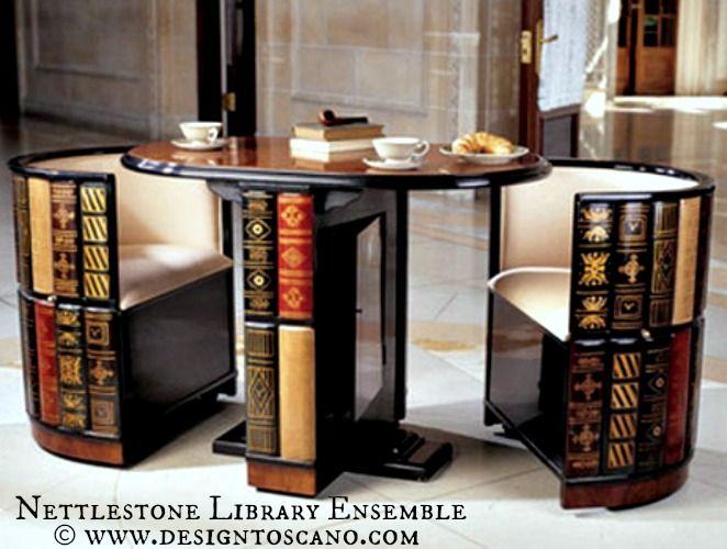 Nettlestone Library Ensemble Trompe L Oeil Bookshelf