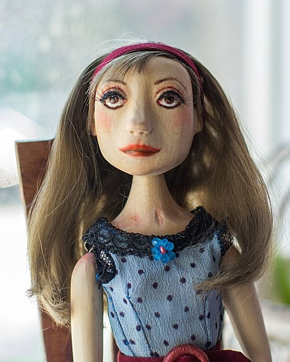 Doll of wood. Doll handmade. The doll as a by BASTET11HandMade