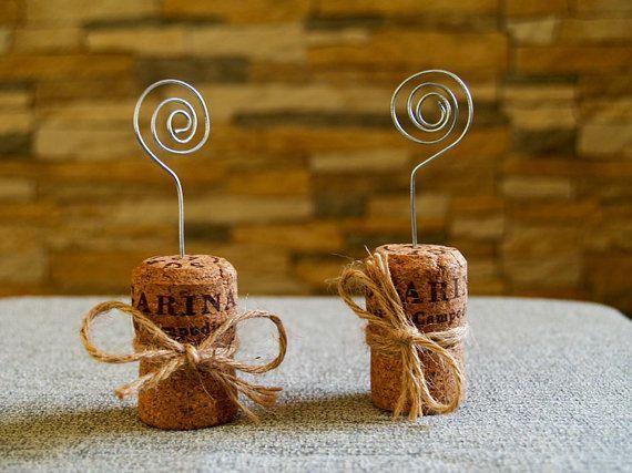 Champagner Cork-Platz-Kartenhalter-kork deko                                                                                                                                                                                 Mehr