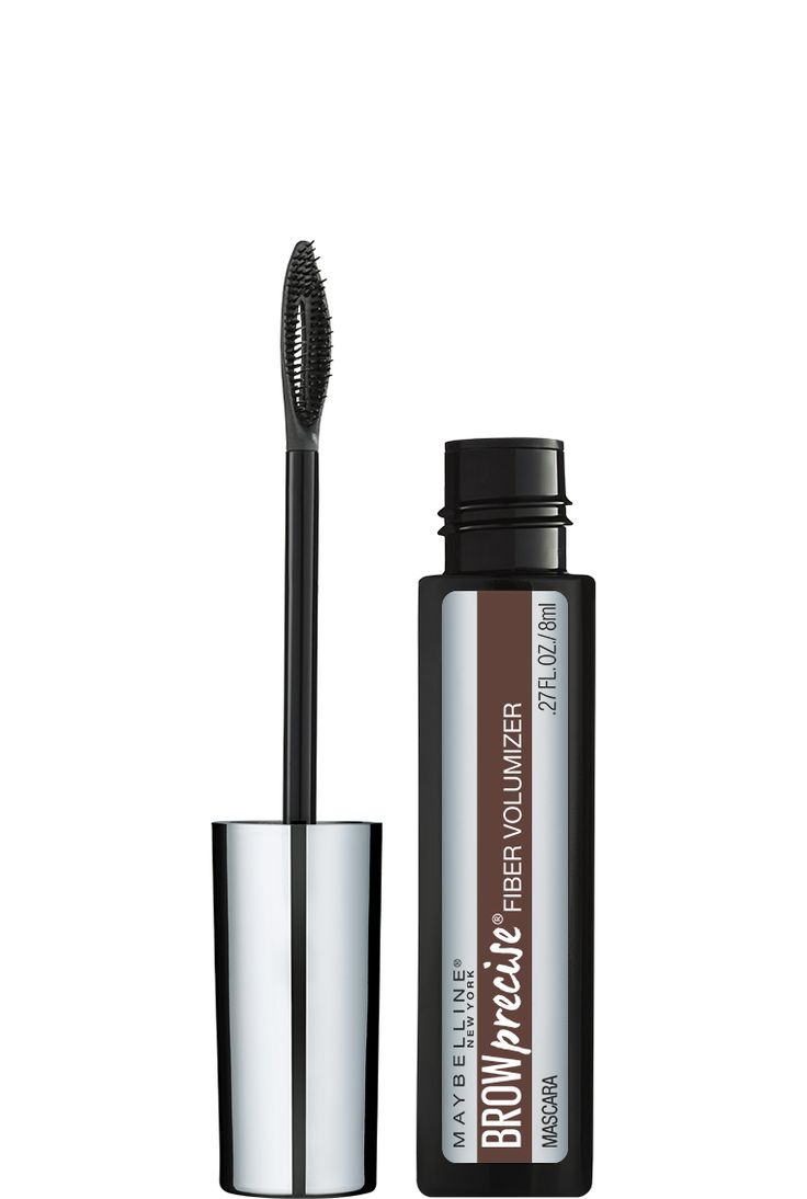 Brow Precise Fiber Volumizer, Eyebrow Mascara by Maybelline. Fiber-infused gel mascara for volumized and colored eyebrows in a few easy strokes and no mess.