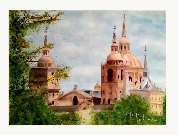 Monasterio de El Escorial. Acuarela
