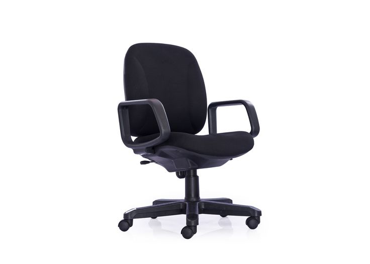Quick and easy adjustment regulated height of Delta-MB-A Staff Chair is relative to floor. Seat & back upholstered with neatly fixed molded foam below.