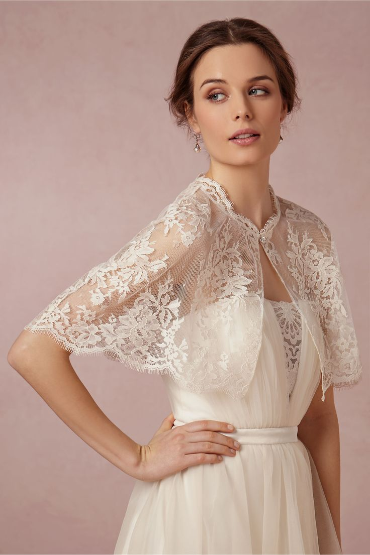 Chantilly Capelet in Bride Bridal Cover Ups at BHLDN $150.00