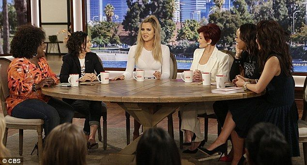 Round table: Khloe joined hosts Sheryl Underwood, Sara Gilbert, Sharon Osbourne, Aisha Tyl...