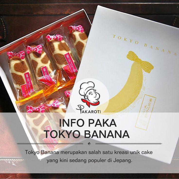 Tokyo Banana menjadi tren kreasi unik cake kesekian yang berasal dari negeri Sakura, Jepang.   Tokyo Banana merupakan sponge cake berisi cream custard dengan rasa pisang manis. Cake ini begitu populer di Tokyo dan sering dijadikan pilihan oleh-oleh para turis. Harga satu paket Tokyo Banana ini dibanderol seharga 500 yen atau setara Rp 58000.  Selain beraroma pisang, Tokyo Banana ini memiliki aroma lain seperti vanila dan dalam bentuk flower printed. #InfoPaka