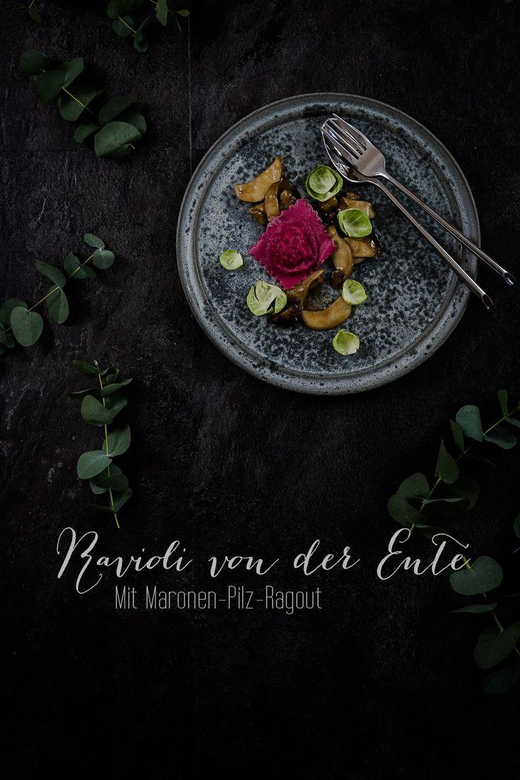 Ravioli von der Ente mit Maronen-Pilz-Ragout | seelenschmeichelei.de