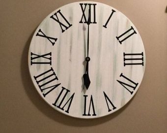 Do It Yourself Farmhouse Clock Roman Numerals 4 in tall DECAL or single use STENCILS do it yourself great for 20 to 30 inch clock