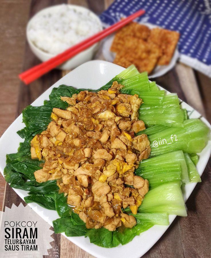 Pokcoy Siram Telur&Ayam Saus tiram