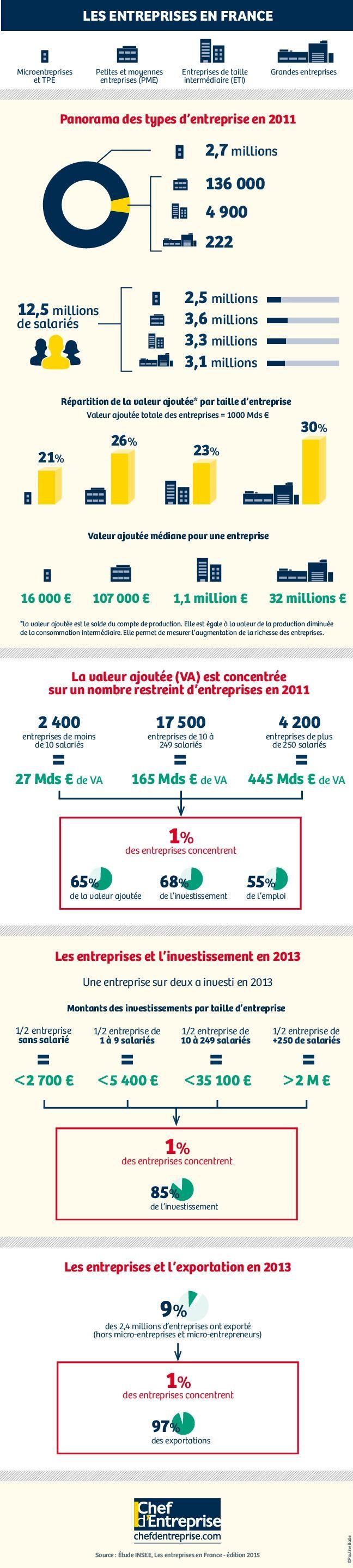 Infographie | Panorama des entreprises en France