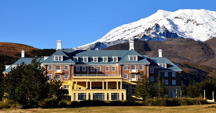 We'll stay at the stunning Chateau Tongariro on our trip. Outstanding food and wine, and excellent attention to detail helped them make the cut for our trips!     #NewZealandWalkingTours   #WalkingNewZealand  #NewZealandVacations  #Tongariro
