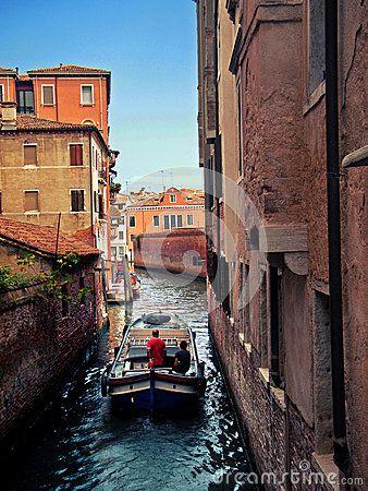 Gran canal venice boat sea sun italy city