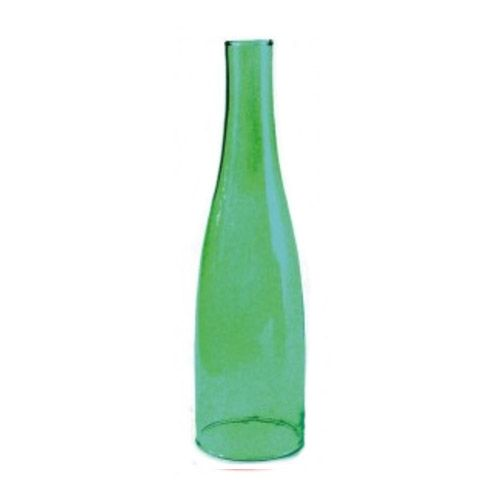 Comprar | Botella cristal verde para fabricar lámparas | Pantallas de cristal #handmade #decoracion #lamparas #accesorioslamparas #iluminacion