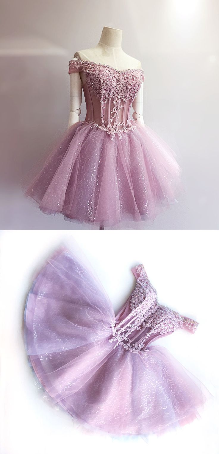 A-Line Homecoming Dresses,Off-the-Shoulder Homecoming Dresses,Short Homecoming Dresses,Lilac Homecoming Dresses,Beading Homecoming Dresses,Appliques Homecoming Dresses,Homecoming Dresses 2017