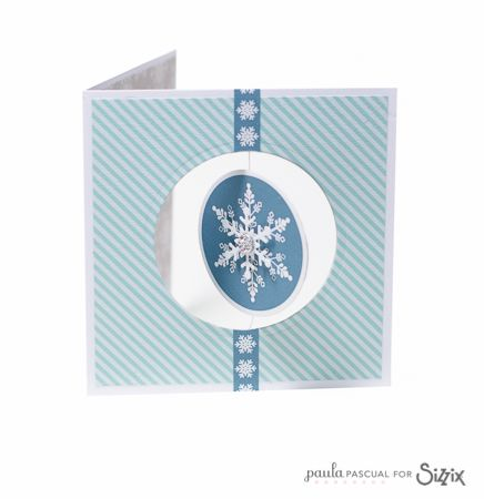 Crafting ideas from Sizzix UK: Christmas floating card