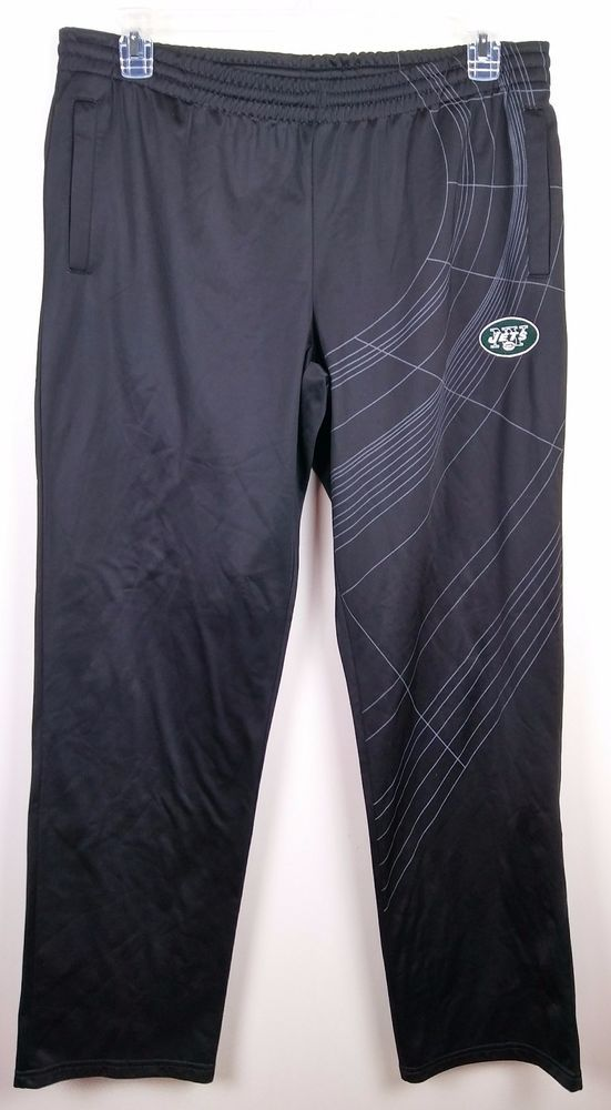 NFL Pro Line New York NY Jets Mens Athletic Pants Black Large #NFL #Pants