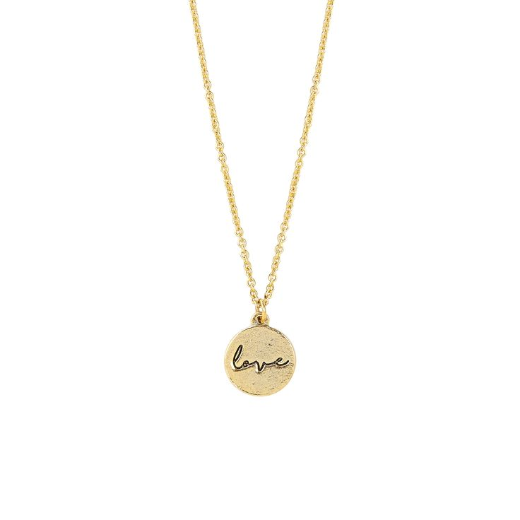 P.S. I Love You Love Sweet Notes Necklace in Gold - available in gold and silver. $24.  #goldnecklace, #shortnecklace, #goldjewelry, #love, #charm, #holidaygift, #jewelrygift, #gift, #valentines #nickelfree #leadfree #madeinCanada
