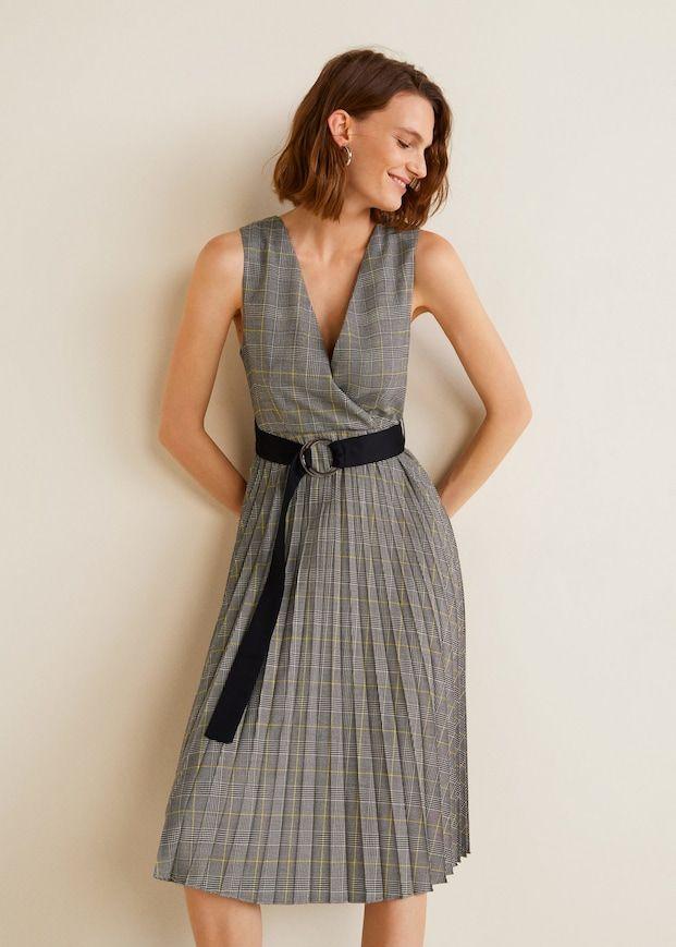 f3e28f233f97ef Plisowana sukienka z paskiem - Sukienki dla Kobieta | Inspirations ...
