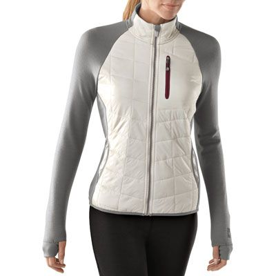 Women's PhD SmartLoft Divide Full Zip: Midlayer jacket, extra warmth  throughout core with MerinoMax arms and back for more breathability