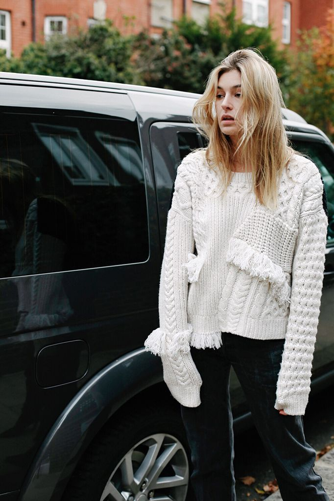 Stand out from the crowd and invest in a statement knit that is both stylish and functional. Surprisingly easy to wear, pair a fun fringe sweater with a pair of black skinny jeans and a shearling...