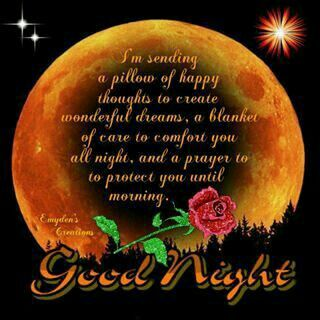 Good night sister and all, sweet dreams♥★♥.