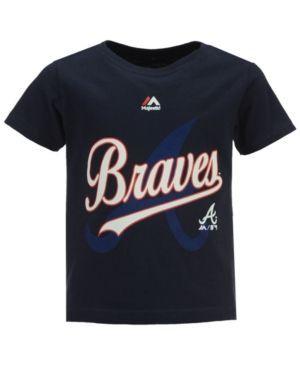 Majestic Boys' Atlanta Braves The Game Cotton T-Shirt - Blue