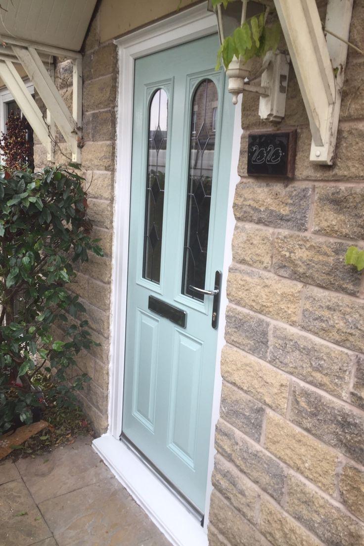 The Caernarfon composite door with Duck Egg Blue external