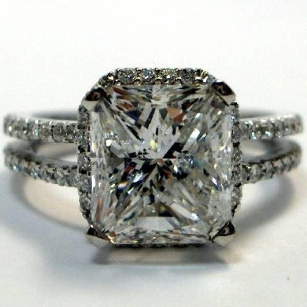 antique double shank engagement ring cushion cut diamond