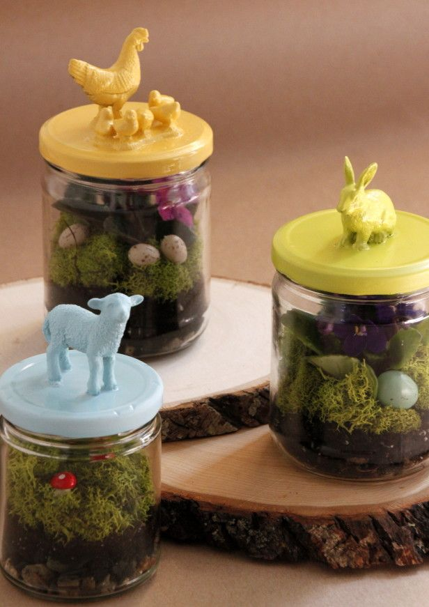 102 best easter spring in a jar images on pinterest easter ideas upcycled easter terrariums negle Choice Image