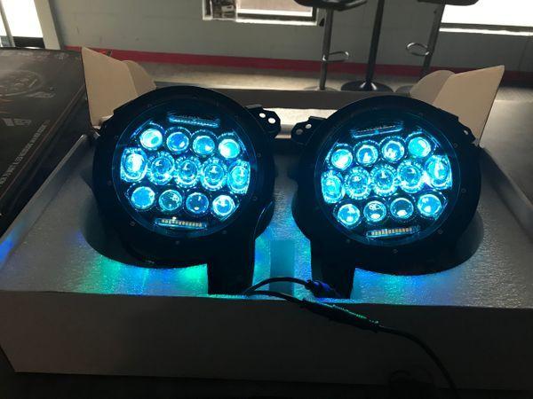 Jeep Jl Led Headlight W Turn Signal 75 Watt Rgb Quake Jeep Jl Led Headlights Jeep