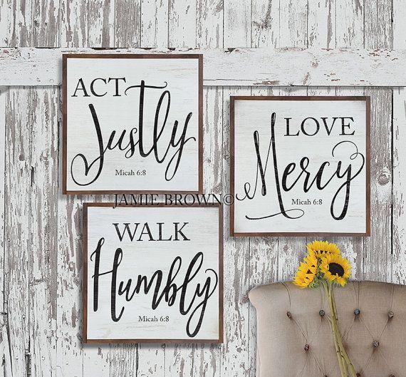 Act Justly Love Mercy Walk Humbly Micah 6:8   by ToeFishArt