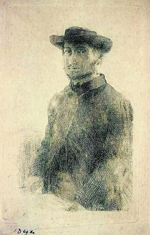 Edgar Degas, Self Etching, Self Portrait Metropolitan Museum of Art, NY