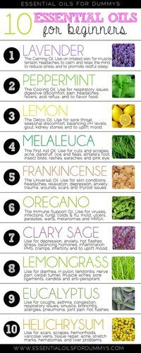 Essential oils for dummys: 10 essential oils for beginners- great tips for people starting out with essential oils! essential oils DoTERRA lavender peppermint lemon melaleuca tee tree oil oregano frankincense clary sage lemongrass eucalyptus helichrysum