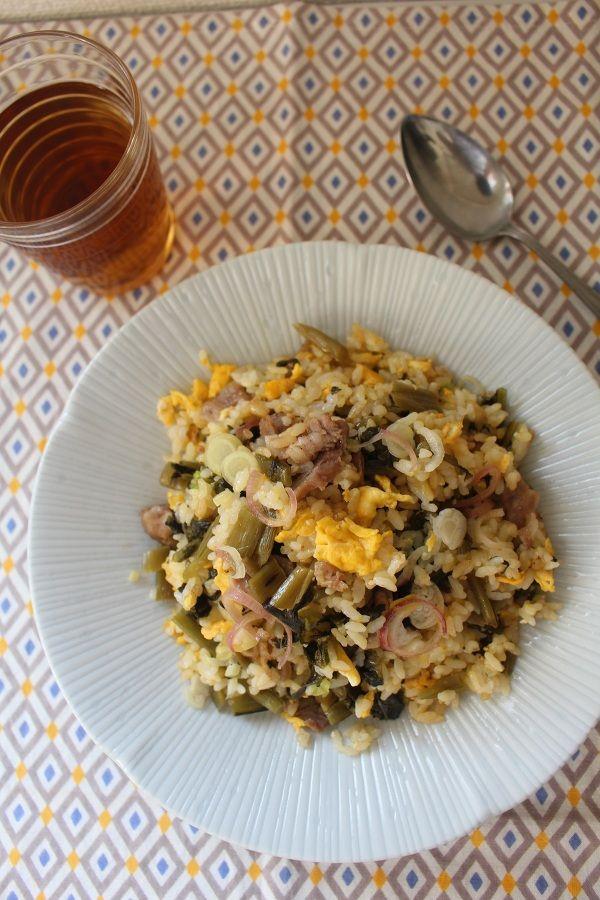 みょうが高菜チャーハン。 by がまざわ たかこ | レシピサイト「Nadia ...