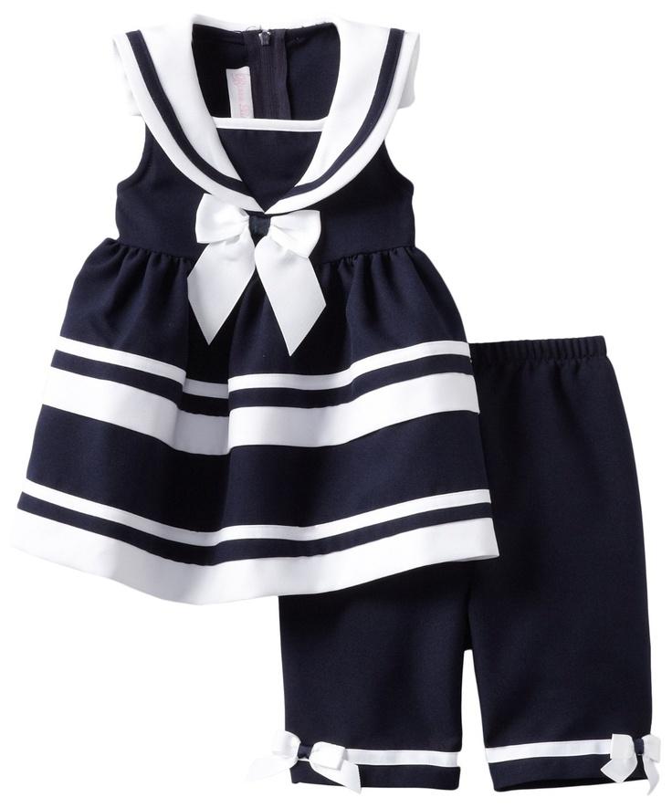 Amazon.com: Bonnie Bebé Niño Niñas Marina Náutico de vestir: Ropa