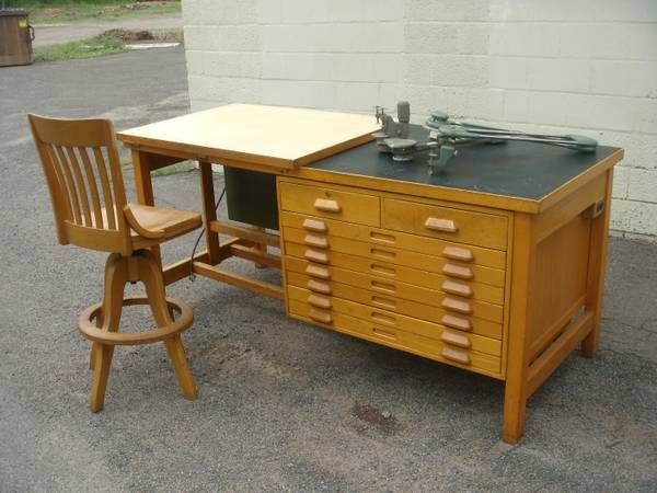 Drafting Desk Tables Painting Studio Craft Vintage
