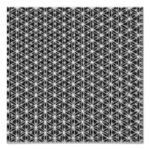 Flower Of Life Intricate Weave #7 Poster