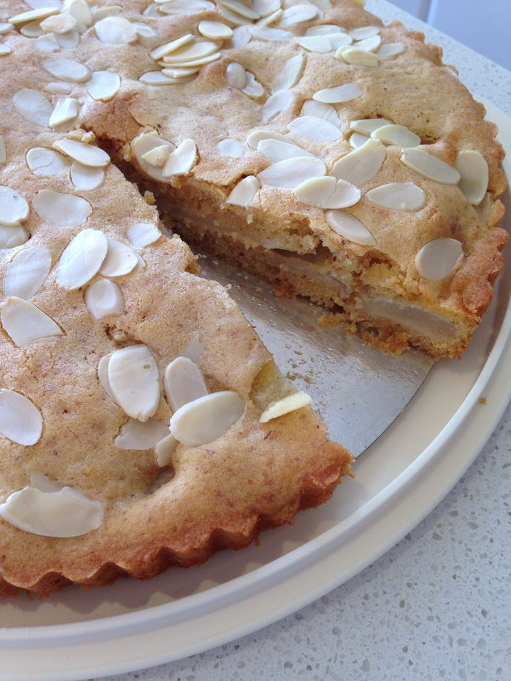 Delicious pear and almond flan made in the Thermomix