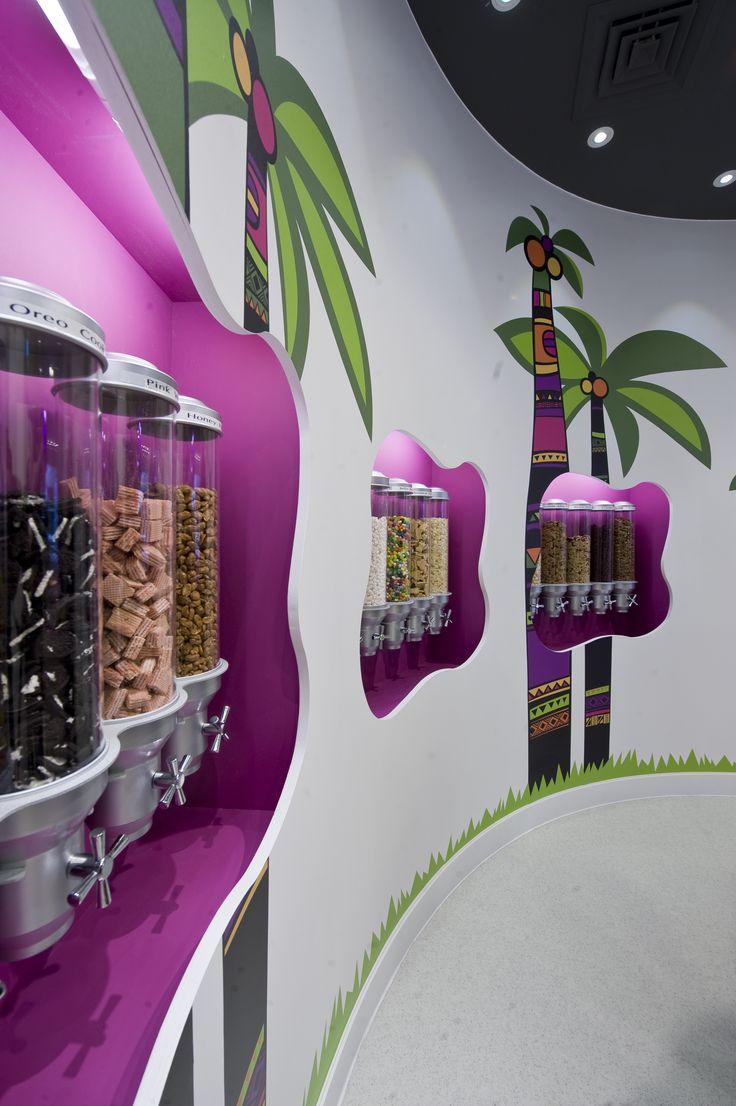 Prague commercial interior design news mindful design consulting - Samba Swirl Frozen Yogurt Shop In Clapham By Abda Creative Design Build Catering Design Http Www Abdadesign Co Uk Frozen Pinterest Shops