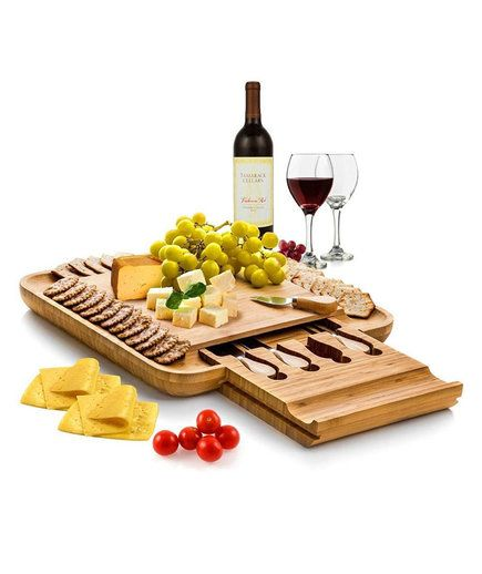 Bamboo Cheese Board with Cutlery Set | Starting your wedding registry? Make sure these wedding gifts from Amazon are on your list.