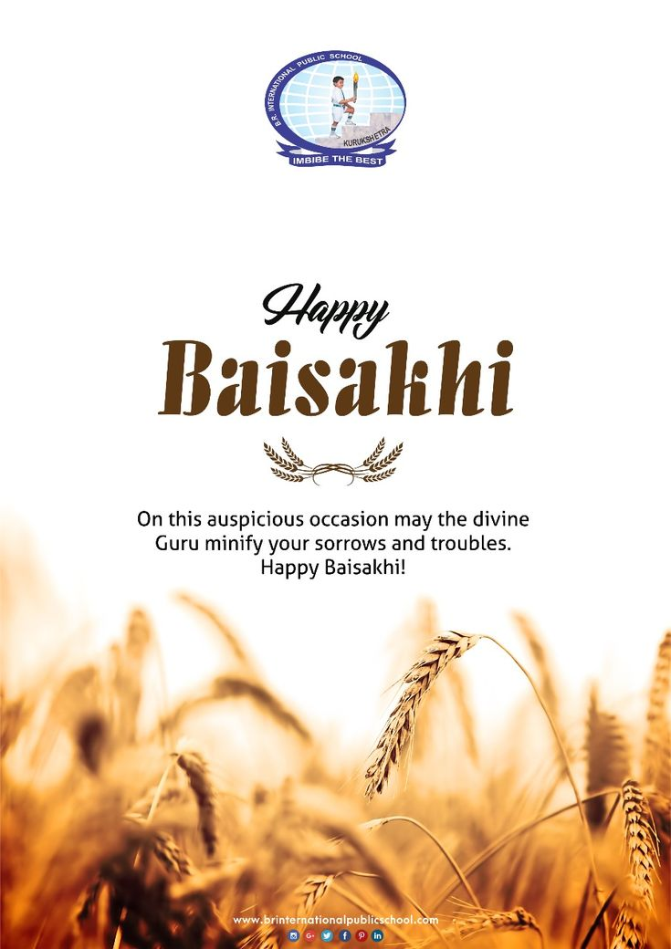 On this auspicious occasion may the divine Guru minify your sorrows and troubles.  Happy Baisakhi!  #BRInternationalPublicSchool #CBSE #Kurukshetra #School #Education #Learning #Baisakhi