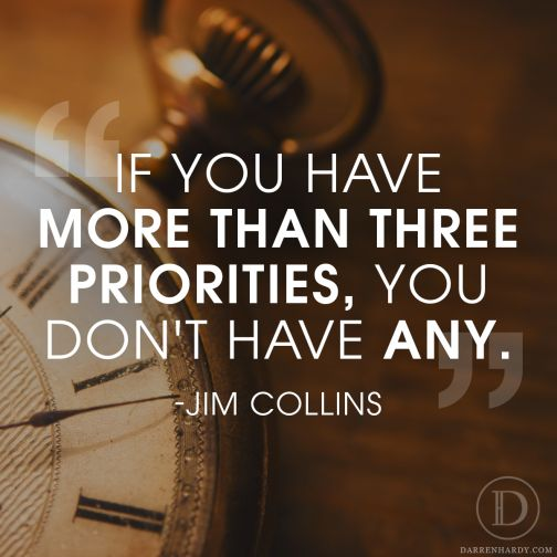 Whether you believe it or not, we all have priorities. What emphasis you place on them determines if you accomplish them or they sit for years. http://www.darrendaily.com/your-power-number/