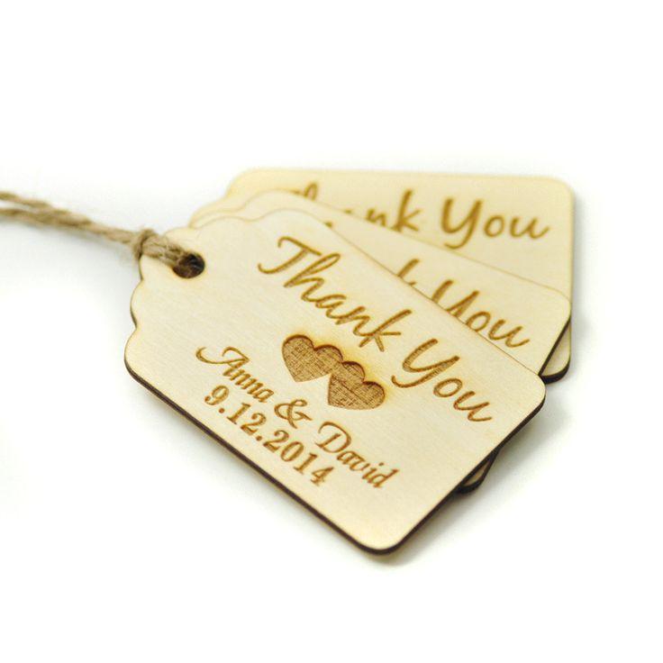 Custom wedding tag