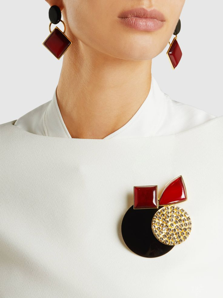 Marni - Embellished Resin Brooch | The Modist