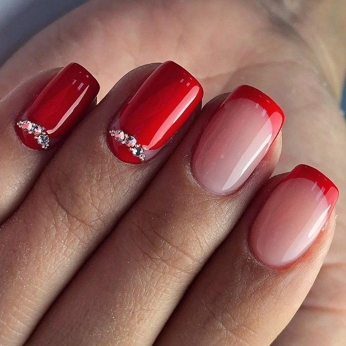 The Trendiest French Manicure Inspo For Winter Red Nails